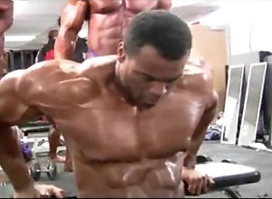 bodybuilder;nipples;muscle;workout;posing;suite;black;gay;muscular;pecs;tits;biceps bodybuilder with...