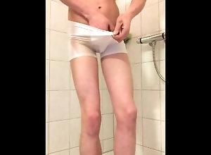 underwear;pee;wet;panties,Euro;Twink;Fetish;Solo Male;Gay Pee in my undies
