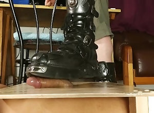 bdsm;hungarian;slave-training;slave;humiliation;cbt;cock-stomp;cock-torture;boots;dom;dominant-male;pain;painful;magyar;loud-moaning;boot-fetish,Feet;Verified Amateurs Gay cock stomping...