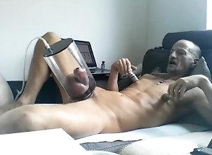 penis;pump;ball;pumping;sounding;jerk,Solo Male;Gay;Amateur;Handjob enjoy myself....