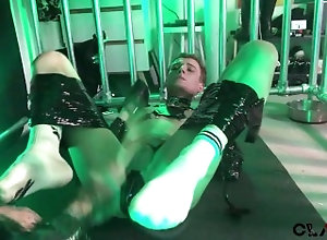 cbt;ballbusting;piss;piss-drinking;pup;play;claude;nikotine;ginger;master;slave;leather;cage;dungeon;wooden;spoon,Twink;Fetish;Gay;Tattooed Men Pup Play - CBT...