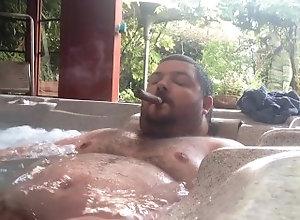 kink;fat;cigar;bear;belly;hottub,Solo Male;Gay nakie hottubin