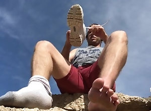 gay-foot-worship;gay-jerk-off-instruc;gay-humiliation;outdoors;feet-joi;pov-gay;dirty-feet;foot-domination-pov;hiker;male-feet;barefoot;dirty-soles;gay-cei;dirty-talking;mean;male-domination,Solo Male;Gay;Straight Guys;Amateur;POV;Feet JOI: Hiker Makes...