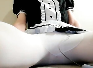 maid;tights;cosplay;crossdress;vibrator;korean,Solo Male;Gay Korean maid...