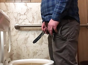 urine;piss;pissing;pee;peeing;spy;camera;cam;hidden;shaking;dick;cock;tiny;penis;restroom;toilet,Solo Male;Gay Spy cam in...