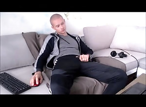 adidas-pants;nike;soccer,Euro;Twink;Solo Male;Gay;Uncut;Webcam Guy in adidas...