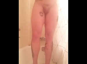 shower;tattoo,Solo Male;Gay Shower masterbation
