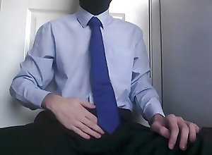 Men (Gay);Gay Porn (Gay);Amateur (Gay);Masturbation (Gay) Shirt and Tie Wank