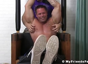 myfriendsfeet;feet;foot-fetish;tattoo;feet-fetish;bondage;fetish;hunk;muscle;tickling;softcore;tickling-fetish;joey;toes;torment,Muscle;Gay;Hunks;Feet Bound muscle stud...