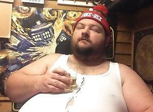 kink;fat;cigar;bear,Fetish;Gay;Bisexual Male;Smoking christmas party clip
