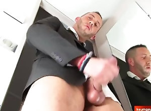 keumgay;massage;gay;hunk;jerking-off;handsome;dick;straight-guy;serviced;muscle;cock;get-wanked;wank,Massage;Euro;Big Dick;Gay;Hunks;Straight Guys;Handjob;Uncut;Cumshot In suit male gets...