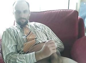 Gay Porn (Gay);Amateur (Gay);Bears (Gay);Daddies (Gay);Masturbation (Gay) Suit daddy bear...