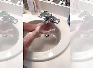 old;grandpa;grandfather;sexy-hand-washing,Solo Male;Gay Grandpa's...