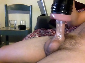 big;cock;fleshlight;flesh;light;jacking;off;balls;sack;cock;dick;penis;dong,Solo Male;Big Dick;Gay Gooning with my...