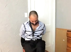 latin;bondage;chair-tied;roped-up;shibari;gagged;businessman;scruffy-guy;tied-up;hairy-chest;exposed;struggling;bandana;cleave-gagged,Latino;Fetish;Solo Male;Gay;Hunks;Amateur;Verified Amateurs Chairtied in a Suit