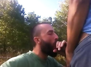 public;blowjob;bj;outdoors;sucking;dick;big;dick;woods;bear;gay,Blowjob;Gay;Public This Is One Hot...