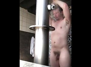 big-cock;public;outside;shower;wet;water;clean;hung;hot;bathhouse;bath-house;club-pittsburgh;sauna;bathhouse-sex;rinse;beard,Daddy;Solo Male;Big Dick;Gay;Hunks;Public;Amateur;Jock Asher Devin...