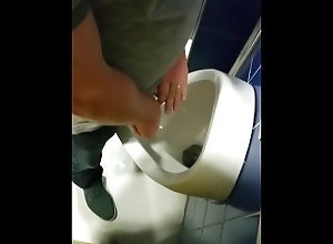 public;outside;spy;piss;toilet,Daddy;Solo Male;Gay;Public Daddy hides his...