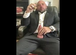 big-cock;jason-collins;masculine-jason;gay;smoking;cigar;alpha;dom;daddy;bear;muscle;suit;dress-shirt;relaxing;smoke;gay-smoking,Daddy;Muscle;Fetish;Solo Male;Big Dick;Gay;Hunks;Straight Guys;Uncut Cigar smoking...