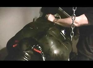 rubber;bondage;cbt,Fetish;Gay;Rough Sex Heavy Ball Bust