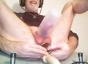 dildos;toys;tattoo;anal-masturbation,Daddy;Fetish;Solo Male;Gay;Amateur;Mature;Tattooed Men Two dildos at...