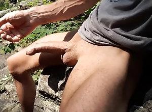 big;cock;big;dick;uncut;dick;Uncut;Cock;foreskin;edgin;wank;jerk;off;masturbating;outside;forest;outdoor;masturbation;outside;outdoor;naked,Solo Male;Big Dick;Gay Wank on a rock #3