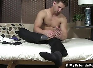 myfriendsfeet;feet;foot-fetish;toes;fetish;hunk;muscle;solo;tattoo;softcore;ethan,Muscle;Solo Male;Gay;Hunks;Feet Striking stud in...
