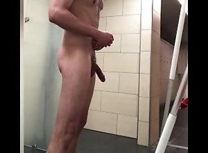 piss;locker-room;public;shower;handsfree;nude;nudist,Solo Male;Big Dick;Gay;Public Pissing in the...