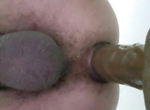 riding;deep;toy;anal;slow;dildo,Solo Male;Gay Anal play with dildo