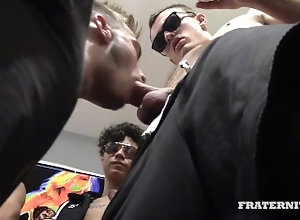 fraternityx;bareback;frat;college;gangbang,Bareback;Group;Gay;College BROKE DAT ASS