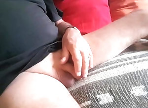 masturbate;cock;penis;uncut;foreskin;smooth;shaved;softie;fondling;balls,Solo Male;Gay always be...