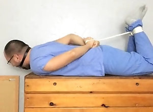 latin;bondage;gagged;ballgagged;drooling;tight-hogtie;medical;locktober;frustrated;struggling;socked-feet;scruffy-guy;stripped;chastity-cage;locked-cock;ball-gag-drool,Latino;Fetish;Solo Male;Gay;Hunks;Amateur;Verified Amateurs Hogtied Nurse in...