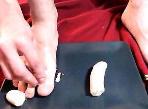feet;male-feet;food-play;kink,Solo Male;Gay FEET BANANA...
