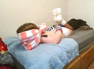 fuzzy-socks;fuzzy-sock-bondage;white-socks-bondage;hogtied;hogtied-gagged;sock-gagged;sock-bondage;rope-bondage;selfbondage,Twink;Solo Male;Gay;Reality;Amateur;Feet;Verified Amateurs Cross Tied Thick...