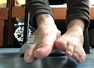 socks;ankle-socks;puma-socks;adidas-superstar;sneakers;barefoot;socked-feet,Twink;Solo Male;Gay;Feet 21yo boy feet in...