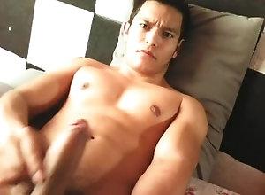 gaymen;youngguys,Twink;Latino;Solo Male;Gay;Handjob;Jock Alone at home