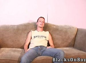 big cock,hardcore,interracial,black,ebony,gay White guy sucking...