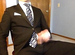 Men (Gay);Gay Porn (Gay);Amateur (Gay);Masturbation (Gay) Cuming in my suit...
