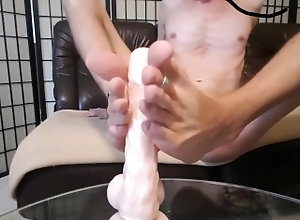 masturbate;kink;big-cock;feet;soles;cum;footjob;dildo;toes;body-lotion;gay;twink;foot-fetish;homemade;cock;uncut,Solo Male;Gay;Feet Dildo Footjob...