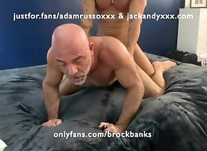 big-cock;smooth-ass;hairy-ass;throat-fuck;rimming;breeding;bald;daddy,Bareback;Daddy;Muscle;Blowjob;Big Dick;Pornstar;Gay;Uncut;Tattooed Men,Adam Russo;Brock Banks;Jack Andy Adam Russo gets...