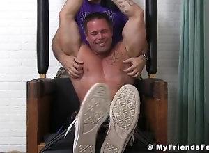 myfriendsfeet;feet;foot-fetish;tattoo;feet-fetish;bondage;fetish;hunk;muscle;tickling;softcore;tickling-fetish;joey;toes;torment,Muscle;Gay;Hunks;Feet Bound muscle stud...