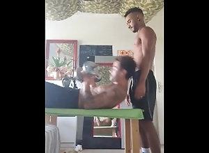 sucking-dick;cum-in-mouth,Latino;Blowjob;Gay;Interracial;Rough Sex;Cumshot;Feet;Tattooed Men During training I...