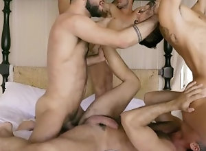 lucasentertainment;gay-sex;gay-porn;5-men;ass-fuck;butthole;big-dicks;big-cocks;big-cock,Bareback;Muscle;Blowjob;Big Dick;Group;Gay;Handjob;Mature Marco Antonio And...