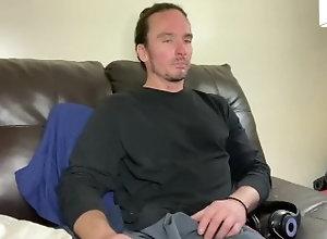 long-hair-man;long-hair-fetish;masterbation;green-eyes;brown-hair;fair-skin,Solo Male;Gay Couch Time