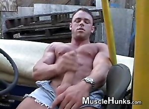 cum;solo;male;muscle,Solo Male;Gay;Hunks Trent quick cum
