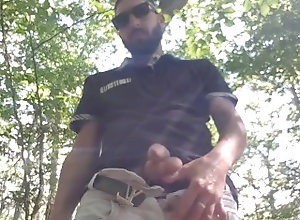 pissing;solo;forest;fetish;public;outside,Fetish;Solo Male;Gay;Public;Handjob piss in the forest